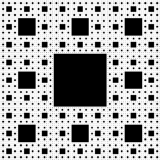 Square fractal diagram