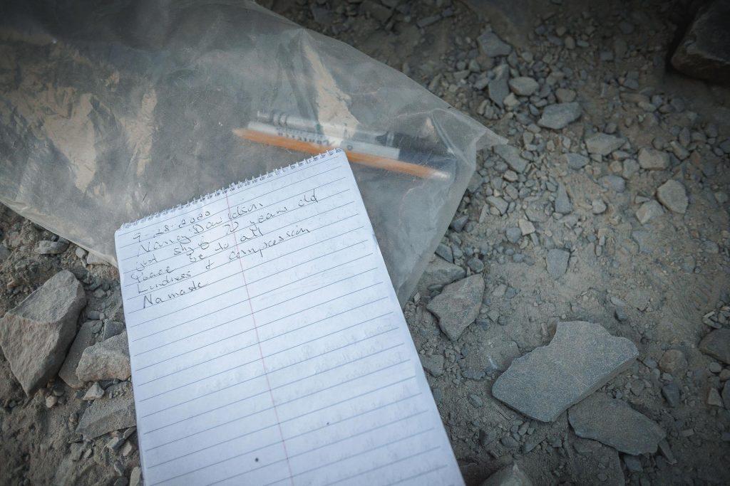 Summit register on top of Wheeler Peak, Nevada
