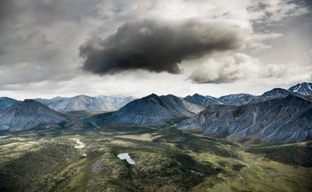 Aerial view of the southern edge of the Brooks Range mountains. Credit...Christopher Miller for The New York Times