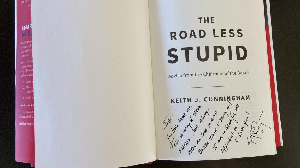 Handwritten note inside a book